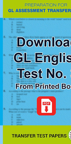 GL English Transfer Test 3