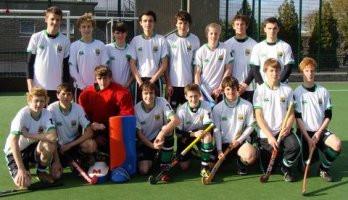 1st XI Boys Hockey Squad at Irish Schools in Dublin