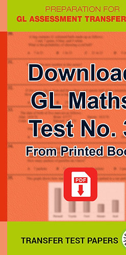 GL Maths Transfer Test 3
