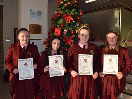 Year 10 Pupil of the Month Winners for November