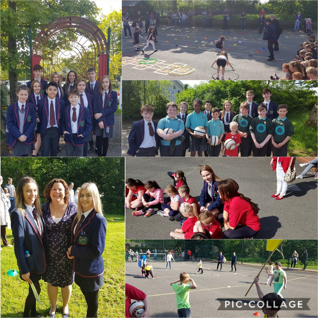 Great to see Oakgrove College pupils helping out at @OakgroveIPSN Primary 1-4 Sports Day. Fantastic day all round. Well done everyone.