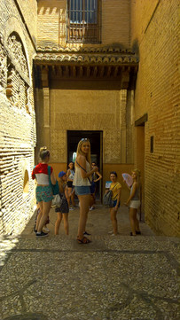Posing at La Alhambra