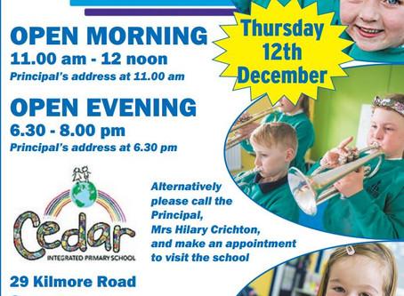 Cedar Integrated Open Day