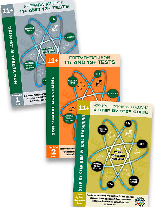 11+ Non-Verbal Reasoning 3 Book Bundle in Standard Format