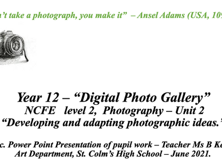 Year 12's Photography Exhibition