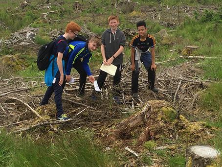 Year 9 Geography Fieldwork – Eco-Orienteering Glenshane 2017