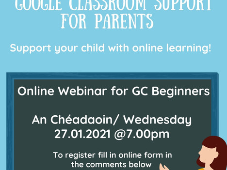 Google Classroom Support For Parents