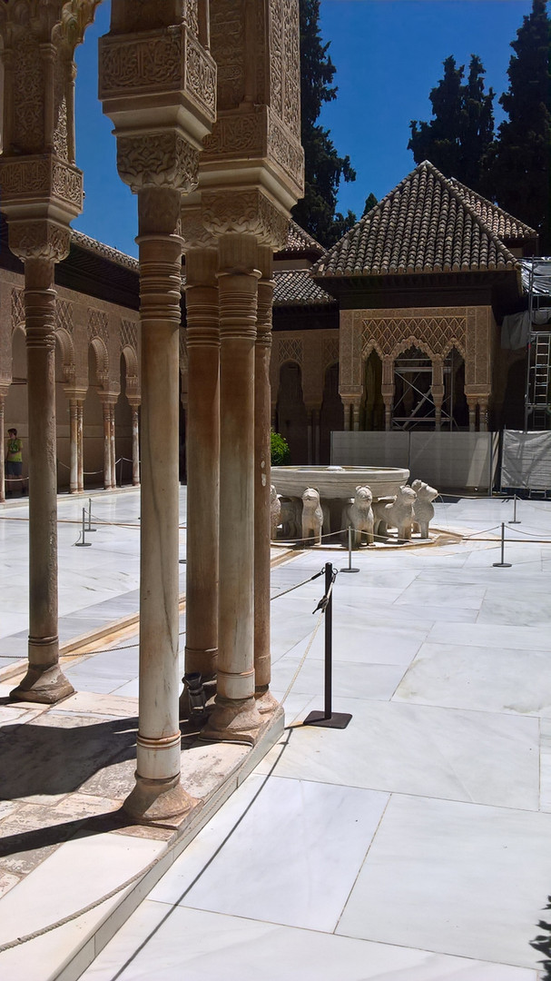 A courtyard at La Alhambra