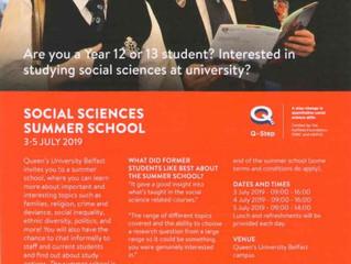 QUB Social Sciences Summer School