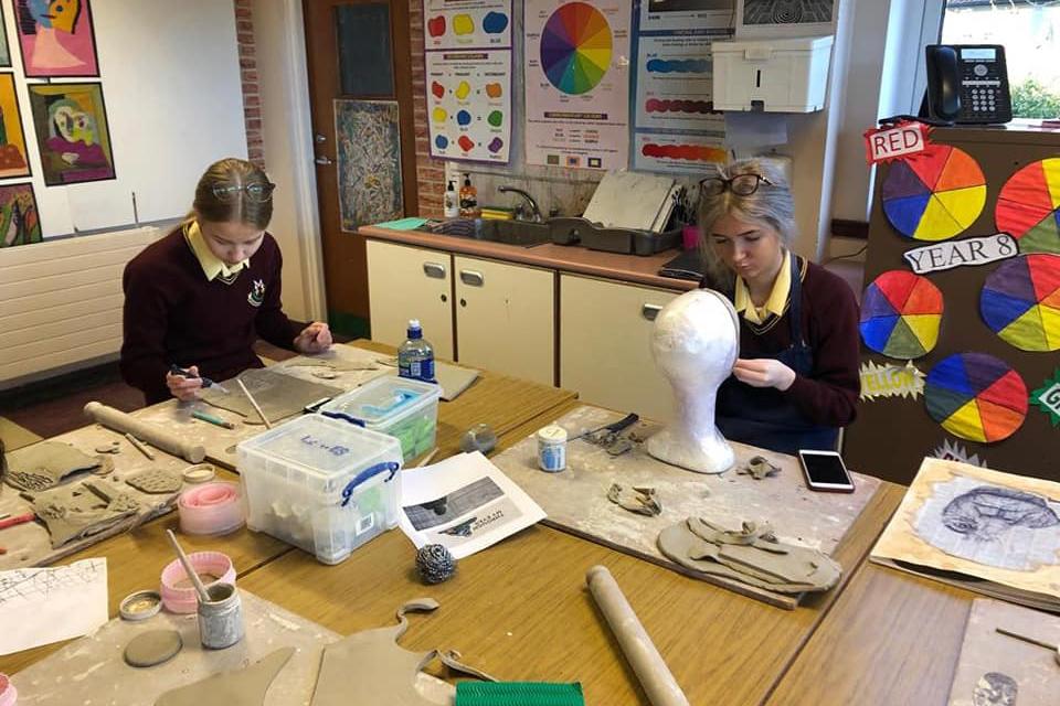 Ceramic Workshop A Level Students     20