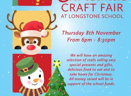 Christmas Craft Fair on Thursday 8th November 2018