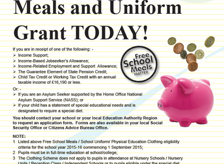 Are you eligible for free School Meals and Grants?