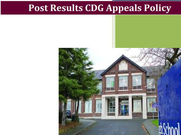 MHS CDG Post-Results Appeals Policy