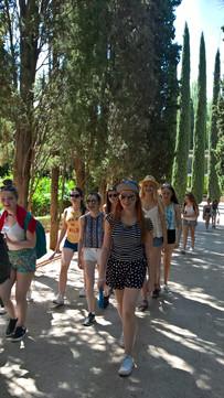 Walking around La Alhambra Granada