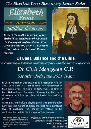 Elizabeth Prout Bicentenary Lecture Series (Dr Chris Monaghan CP)