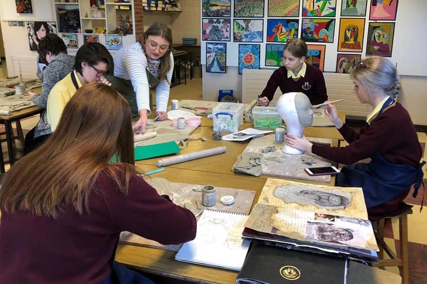 Ceramic Workshop A Level Students