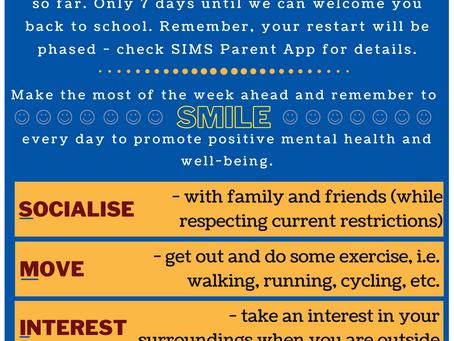 School Restart Countdown: 7 days to go!