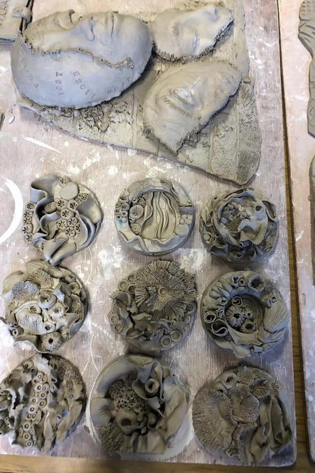 Ceramic Workshop A Level Students   2019