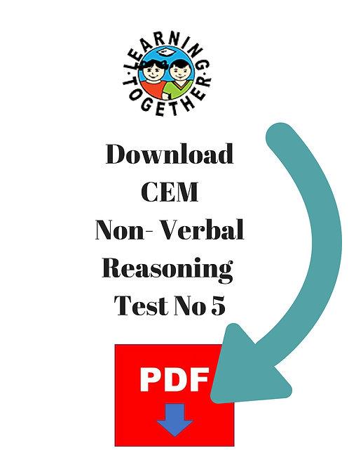 CEM 11+ Non-Verbal Reasoning Test 5