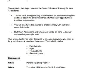 Queen's Parents' Evening (Year 12 Toolkit