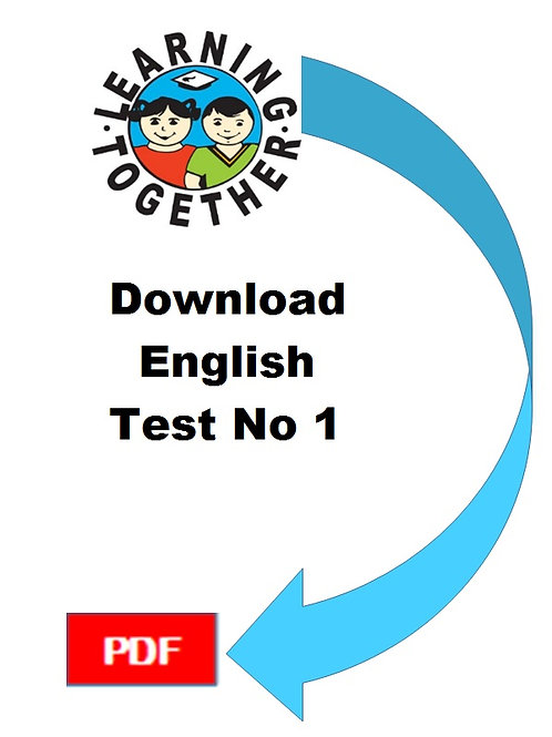 11+ English Test 1