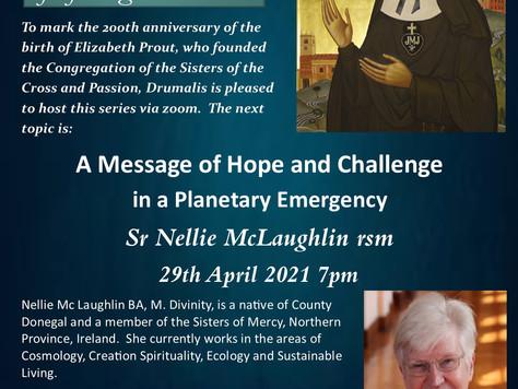 Elizabeth Prout Bicentenary Lecture Series (Sr Nellie McLaughlin RSM)