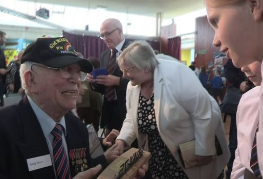 D-Day remembered by veterans at Enniskillen school - a day to remember.