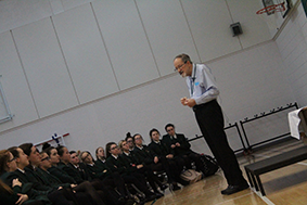 St Cecilia's proudly welcomed Dr Martin Stern to share his amazing story