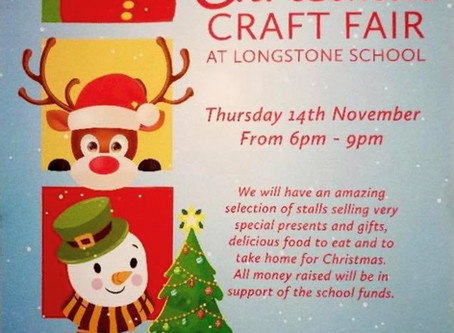Christmas Craft Fair - Thursday 14th November From 6-9pm