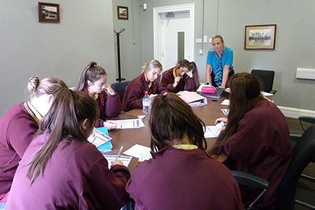 Training for School Bank Team