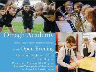 Open Evening - 18th January 2018