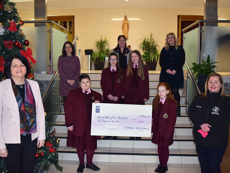 Newry Helping The Homeless Cheque Presentation