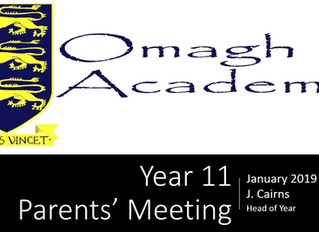 Year 11 Parents' Meeting