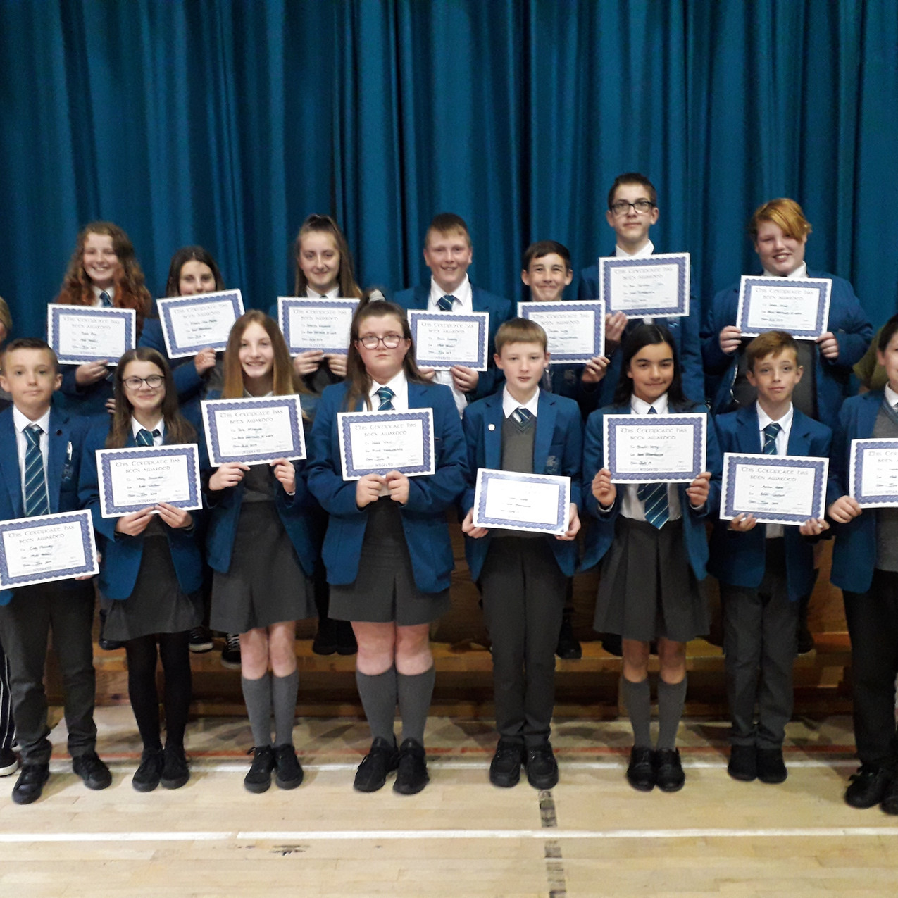 YEAR 8 Endeavour Awards - students pictu