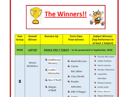 Congratulations to all our worthy winners in our Key Stage 3 project! We look forward to welcoming y
