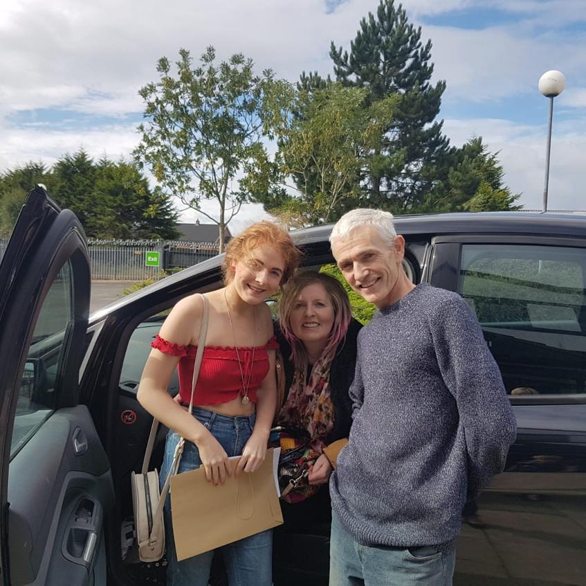 Victoria with very proud parents - next