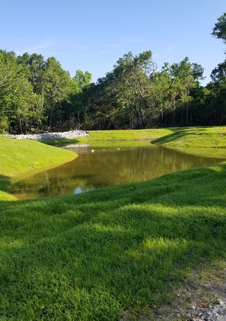 Completed Retention Pond