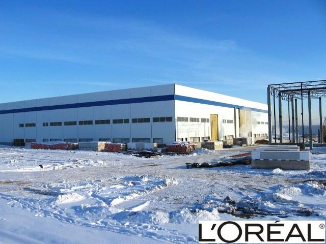 L'OREAL. usine de produits de beauté. surface 15'000 m2