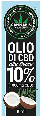 Olio di CBD al cocco