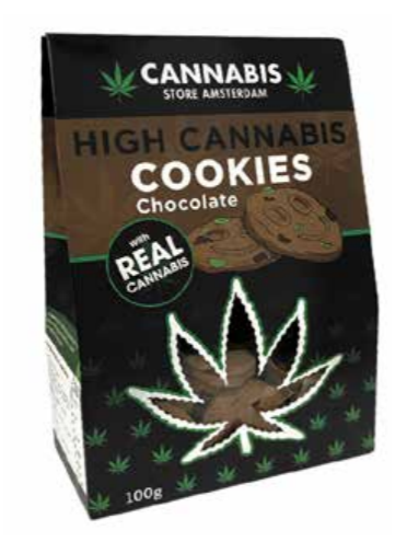 High cannabis cookie chocolste con CBD