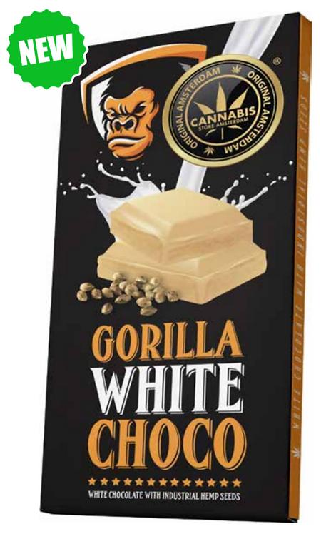 Gorilla white  Chocolate con semi di canapa