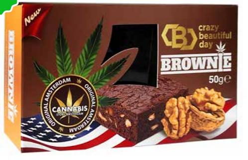 Brownie choco walnut con semi di canapa