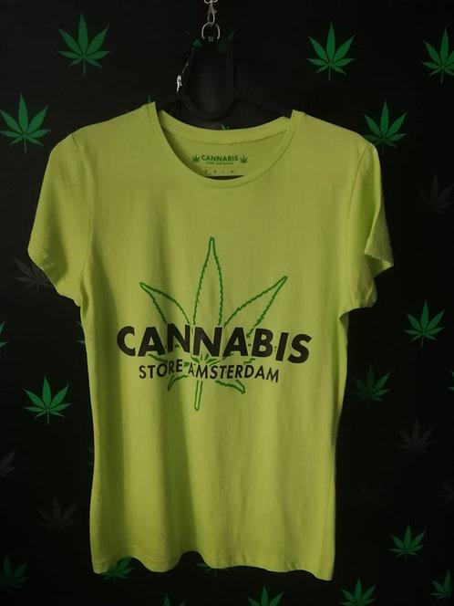 t-shirt uomo verde v