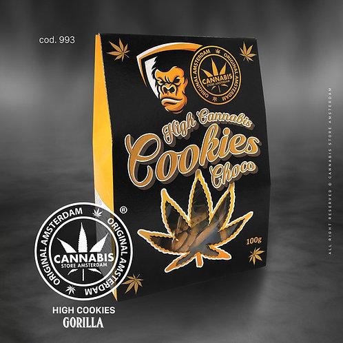 High cannabis cookie choco Gorilla con CBD