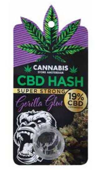 CBD Hash Gorilla glue 19%