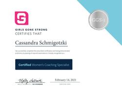 GGS-1 Certified Women's Coaching Specialist