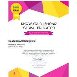Know Your Lemons Certified Global Educator