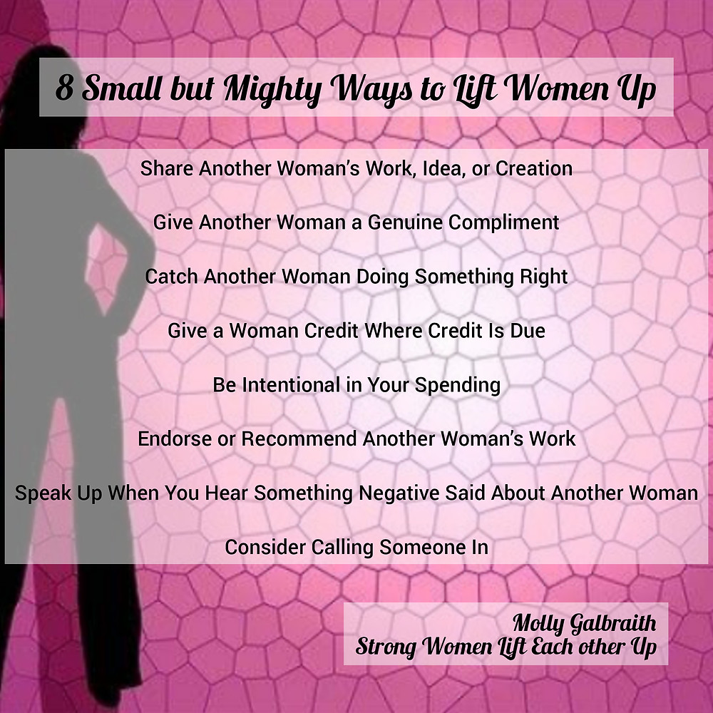 8 small but mighty ways to lift women up