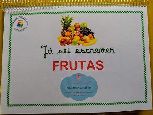 Já sei escrever...Frutas