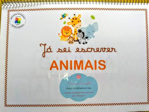 Já sei escrever...Animais